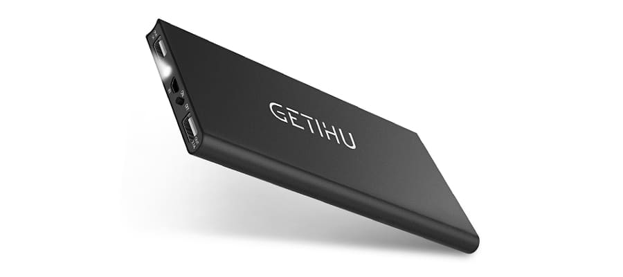 GETIHU 10000mAh Slim Power Bank