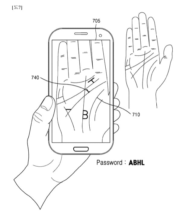 Samsung Palm Scanning Technology