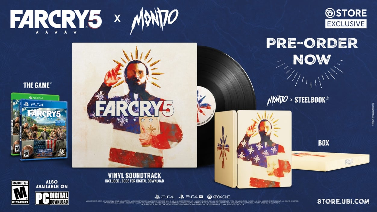 Far Cry 5 Mondo Edition Features Exclusive Artwork and Vinyl Soundtrack