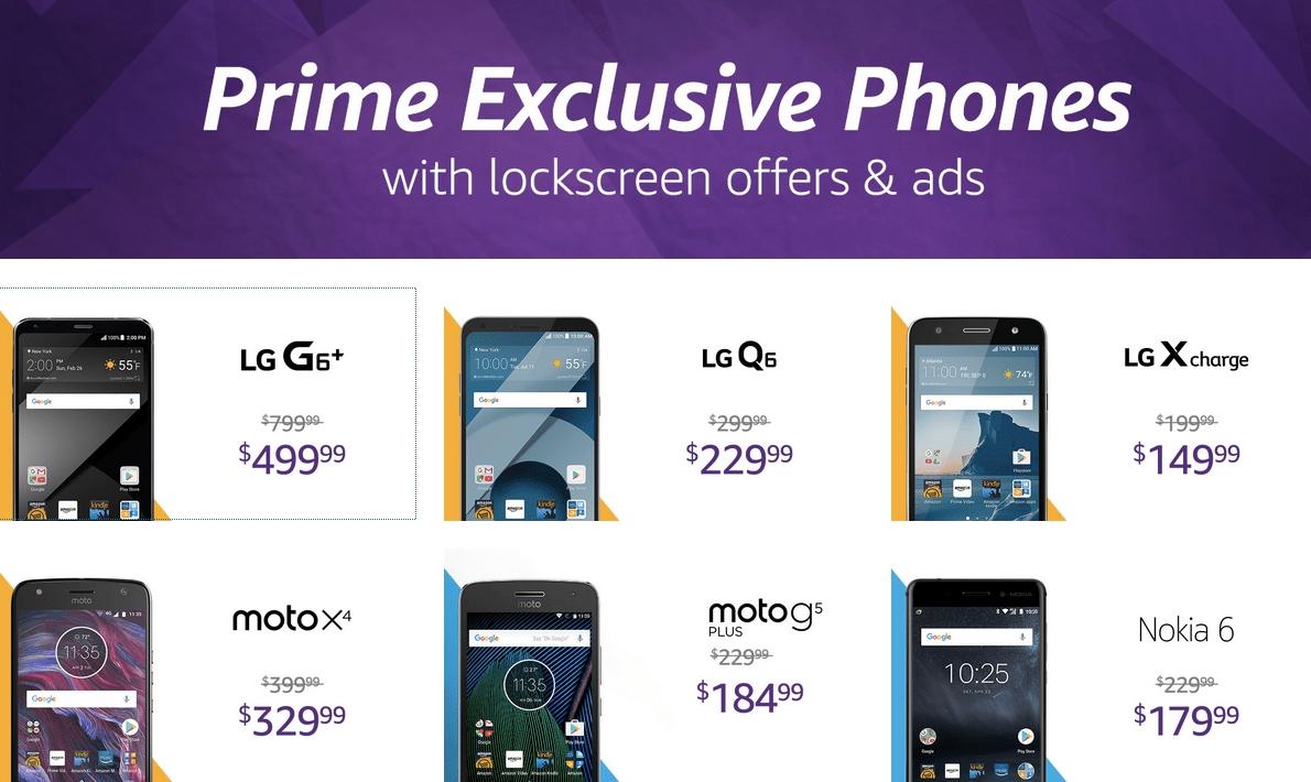 All Amazon Prime Exclusive Phones